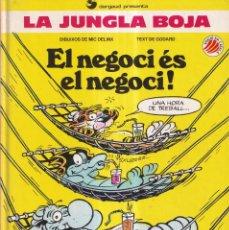 Cómics: EL NEGOCI ES EL NEGOCI - LA JUNGLA BOJA - MIC DELINX, GODARD - DARGAUD - EDICIONES B. Lote 268821194