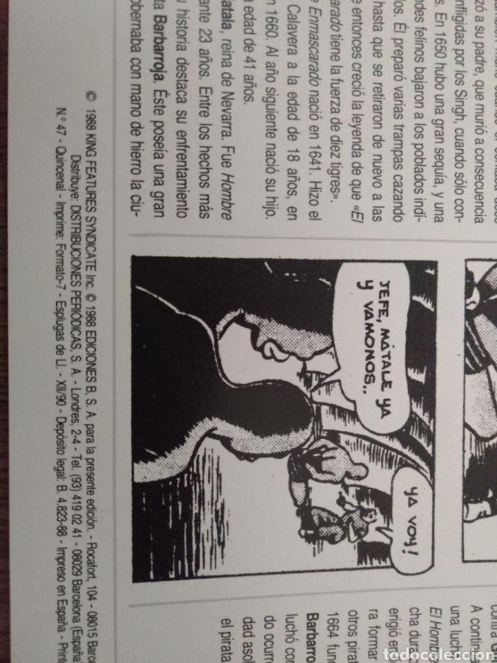 Cómics: Comic El Hombre Enmascarado N°47 Ediciones B. S.A. Año: 1988. Como Nuevo - Foto 3 - 268988019