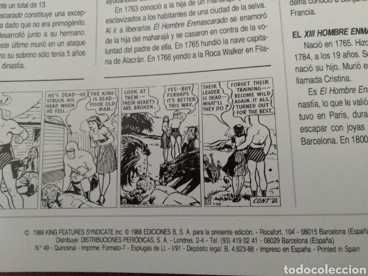 Cómics: Comic El Hombre Enmascarado N°49. Ediciones B S.A. Año: 1988. Como Nuevo. - Foto 2 - 268989779