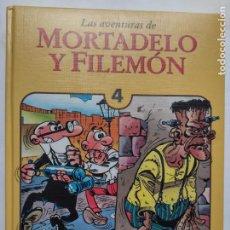 Cómics: LAS AVENTURAS DE MORTADELO Y FILEMON - TOMO 4 - EDICIONES B - TAPA DURA ACOLCHADA - 184 PÁGINAS. Lote 272267488