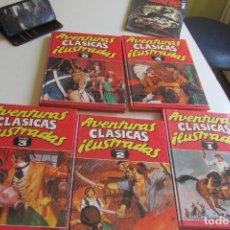 Cómics: AVENTURAS CLÁSICAS ILUSTRADAS TOMO 1 2 3 4 5 COMPLETA. EDICIONES B. TAPAS DURAS GCM. Lote 277233378