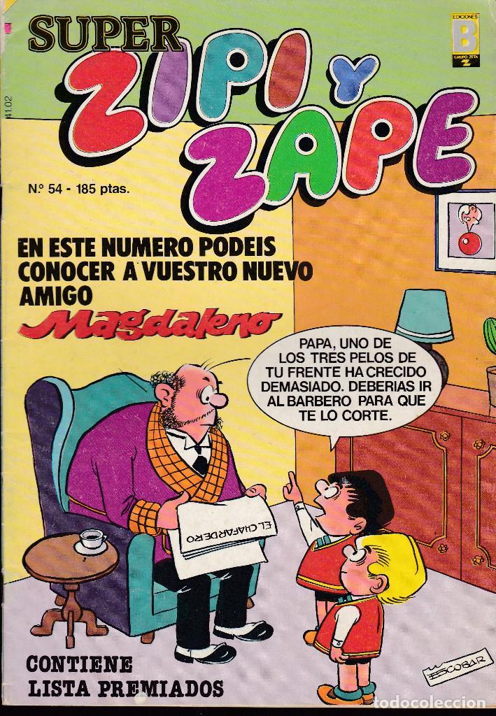 SUPER ZIPI ZAPE - Nº 54 - 1987 - EDICIONES B - (Tebeos y Comics - Ediciones B - Clásicos Españoles)