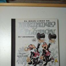 Cómics: EL GRAN LIBRO DE MORTADELO Y FILEMÓN 50 ANIVERSARIO + DVD. Lote 277568913