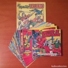 Comics : EL CAPITAN TRUENO REEDICIÓN FACSÍMIL EDICIONES B LOTE DE 31 Nº. MÁS ALMANAQUE REEDITADO 1958. Lote 282562998
