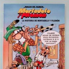 Cómics: MORTADELO Y FILEMON MAGOS DEL HUMOR Nº 15 LA HISTORIA DE MORTADELO Y FILEMON TAPA DURA. Lote 283743948
