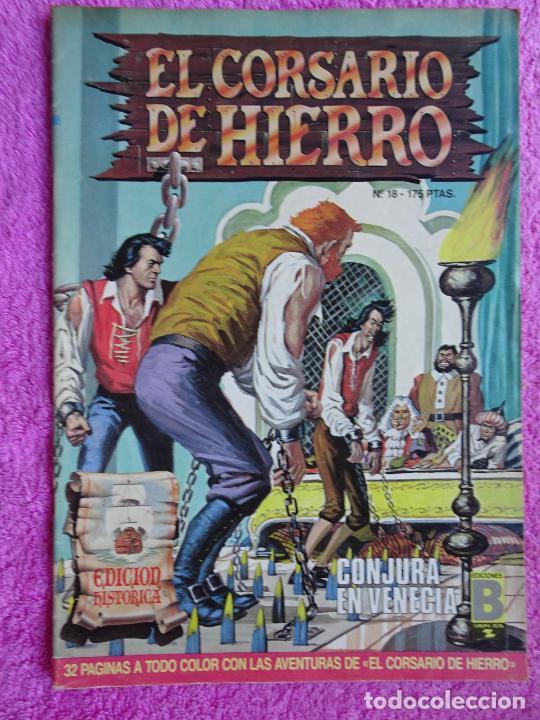 EL CORSARIO DE HIERRO 18 EDICIONES B 1988 EDICIÓN HISTÓRICA (Tebeos y Comics - Ediciones B - Clásicos Españoles)