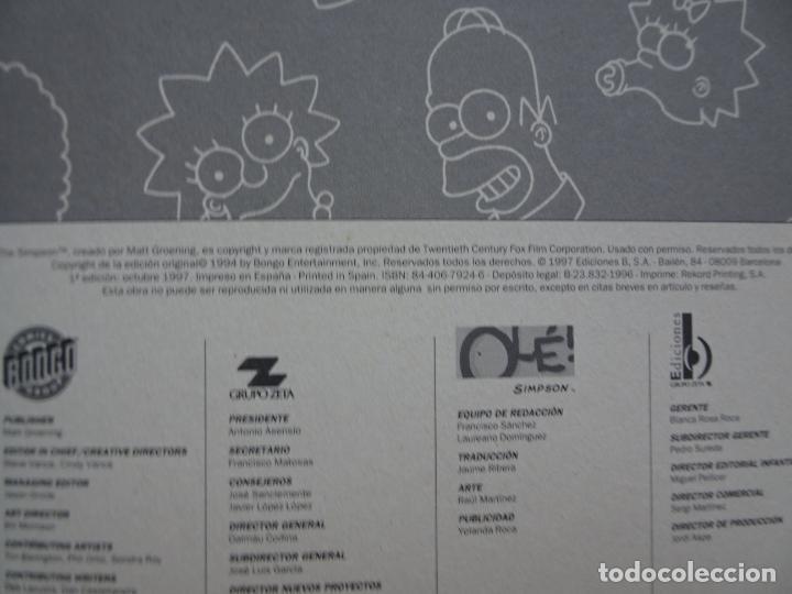 Cómics: los asombrosos simpson ediciones b 1997 edición 1ª colección olé 13 - Foto 9 - 288072418