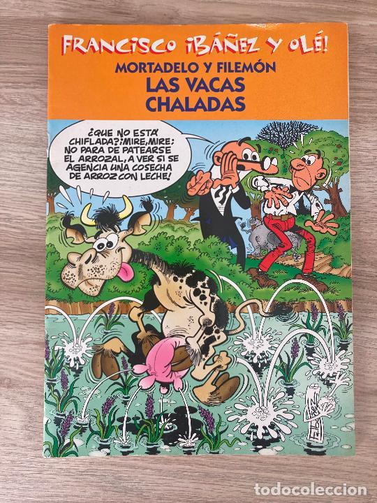 FRANCISCO IBAÑEZ Y OLE MORTADELO Y FILEMON. LAS VACAS CHALADAS. EDICIONES B 2001 (Tebeos y Comics - Ediciones B - Clásicos Españoles)