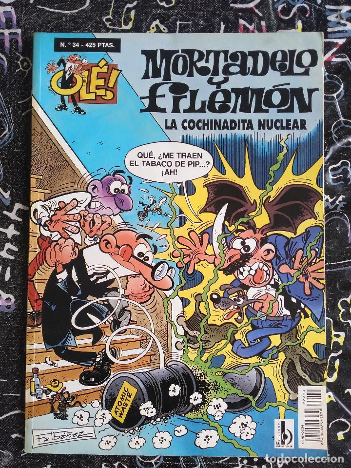 COLECCION OLE - MORTADELO Y FILEMON NUM. 34 LA COCHINADITA NUCLEAR. BUEN ESTADO (Tebeos y Comics - Ediciones B - Humor)