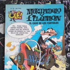 Cómics: COLECCION OLE - MORTADELO Y FILEMON NUM. 38. EL CASO DE LOS PARVULOS .BUEN ESTADO. Lote 288448603