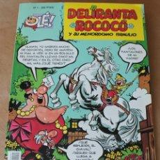 Cómics: OLE - Nº 1, DELIRANTA ROCOCO - ED. B, AÑO 1993, 1ª EDICIÓN, PORTADA EN RELIEVE - COMO NUEVO. Lote 288449273