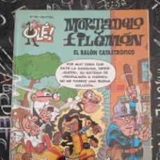 Cómics: COLECCION OLE - MORTADELO Y FILEMON NUM. 63 EL BALON CATASTROFICO . BUEN ESTADO. Lote 288483558