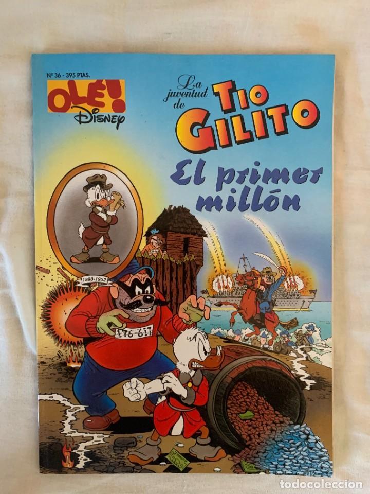 OLÉ DISNEY Nº 36: LA JUVENTUD DEL TÍO GILITO - EL PRIMER MILLÓN (Tebeos y Comics - Ediciones B - Otros)