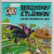 Cómics: EDICIONES B. OLÉ MORTADELO. 31. SIN RELIEVE.. Lote 290083658