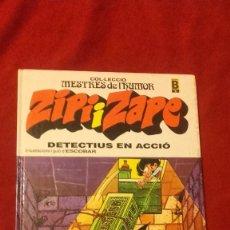 Cómics: ZIPI I ZAPE - DETECTIUS EN ACCIO - COL. MESTRES DEL HUMOR 6 - ESCOBAR - CARTONE - EN CATALAN. Lote 296815708