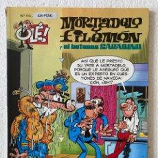 Cómics: MORTADELO Y FILEMÓN «DOS CABESTROS Y UN POLLINO» OLÉ #113 EDICIONES B 3ª ED.. Lote 297175483
