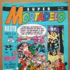 Cómics: SÚPER MORTADELO N°104 (EDICIONES B, 1992). CON SUPERLÓPEZ, PAFMAN... 52 PÁGINAS A COLOR.. Lote 297264563