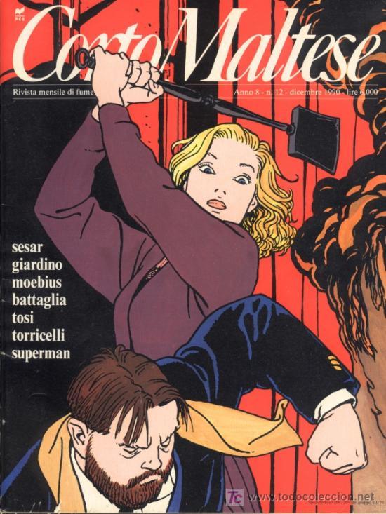 CORTO MALTESE, Nº 12, DICIEMBRE 1990. AÑO VIII (EN ITALIANO) (Tebeos y Comics - Comics Lengua Extranjera - Comics Europeos)