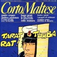 Cómics: CORTO MALTESE, Nº 3, DICIEMBRE 1983, AÑO 1 (EN ITALIANO). Lote 7598170