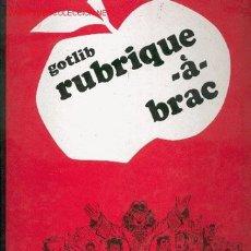 Cómics: GOTLIB - RUBRIQUE-À-BRAC 1. Lote 25335594