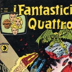 Cómics: I FANTASTICI QUATTRO Nº 107 (LOS CUATRO FANTÁSTICOS). CON HISTORIETAS DE NAMOR Y CAPITÁN MARVEL. Lote 10207580