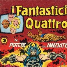 Cómics: I FANTASTICI QUATTRO Nº 111 (LOS CUATRO FANTÁSTICOS). CON HISTORIETAS DE NAMOR Y PARODIAS. AÑO 75. Lote 10207638