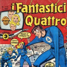 Cómics: I FANTASTICI QUATTRO Nº 113 (LOS CUATRO FANTÁSTICOS). CON HISTORIETAS DE NAMOR Y PARODIAS. AÑO 75. Lote 10207706