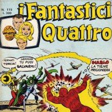 Cómics: I FANTASTICI QUATTRO Nº 115 (LOS CUATRO FANTÁSTICOS). CON HISTORIETAS DE NAMOR Y OTRAS HISTO. AÑO 75. Lote 10207748