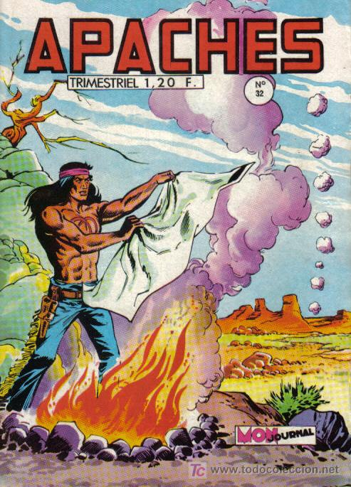 FLECHA ROJA EN FRANCES - DIBUJO DE SÁNCHEZ AVIA - APACHES Nº 32 - EDITADO EN FRANCIA (Tebeos y Comics - Comics Lengua Extranjera - Comics Europeos)