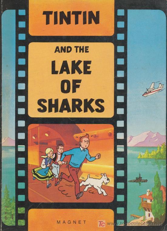 THE ADVENTURES OF TINTIN ''TINTIN AND THE LAKE OF SHARKS'' MAGNET. INGLATERRA. (Tebeos y Comics - Comics Lengua Extranjera - Comics Europeos)
