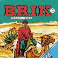 Cómics: EL CORSARIO DE HIERRO EN FRANCÉS - BRIK Nº 211 - OCTUBRE 1985 - CON PORTADA DEL CORSARIO DE HIERRO. Lote 26654769