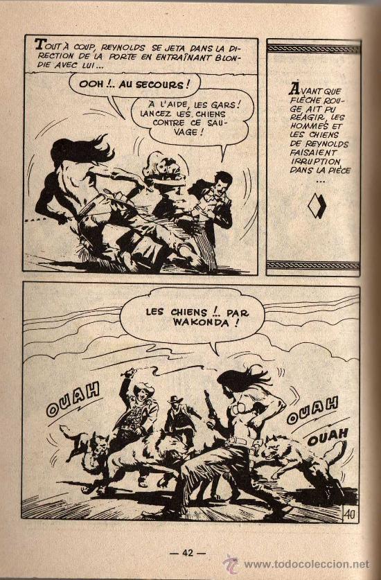Cómics: FLECHA ROJA EN FRANCES - Dibujo de Sánchez Avia - APACHES nº 32 - Editado en FRANCIA - Foto 2 - 24536213