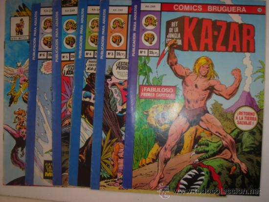 KA-ZAR Nº1 COLECCION DE 6 COMIC (Tebeos y Comics - Comics Lengua Extranjera - Comics Europeos)