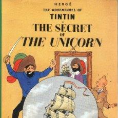 Cómics: TINTIN.HERGÉ.THE SECRET OF THE UNICORN.Nº 6.EDICIONES DEL PRADO.VOCABULARIO CASTELLANO Y EJERCICIOS. Lote 29233425