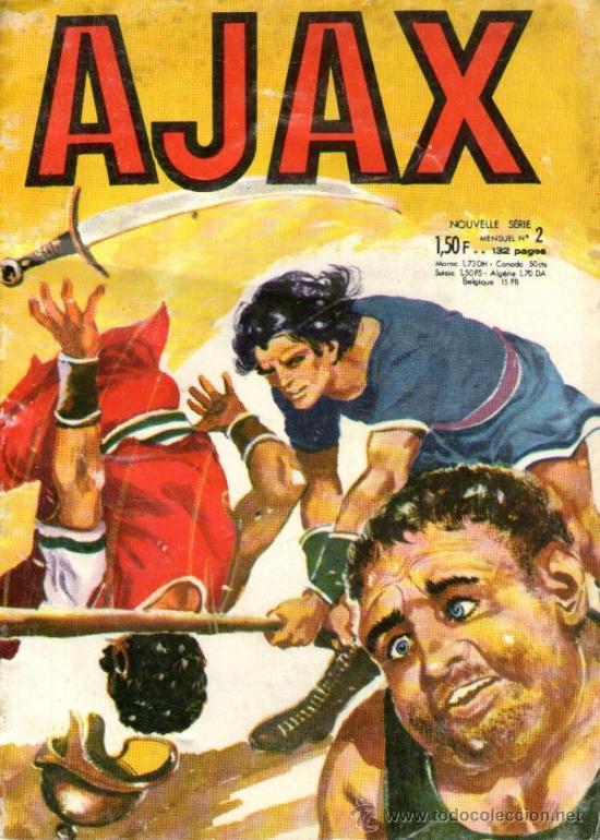 EL JABATO EN FRANCÉS - AJAX - Nº 2 - 2ª SERIE - ABRIL 1968 - Y CON EL JABATO EN PORTADA (Tebeos y Comics - Comics Lengua Extranjera - Comics Europeos)