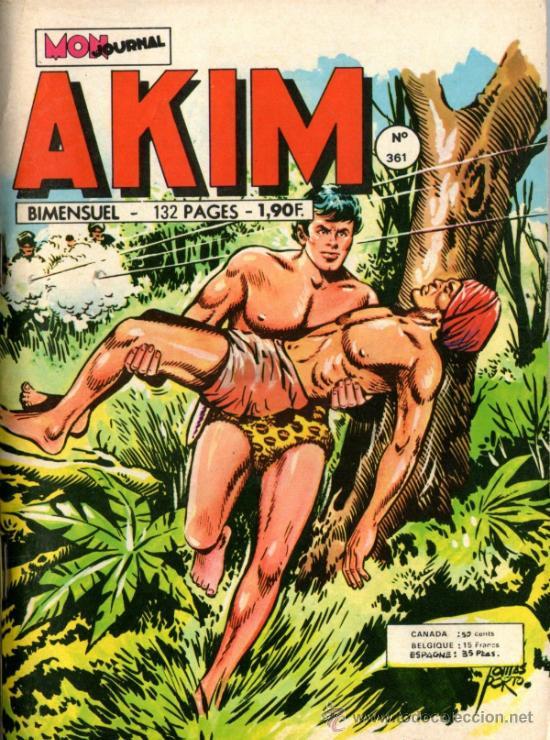 EL JABATO EN FRANCÉS - AKIM 361 - EDITADO EN FRANCIA - 15-08-1974 (Tebeos y Comics - Comics Lengua Extranjera - Comics Europeos)