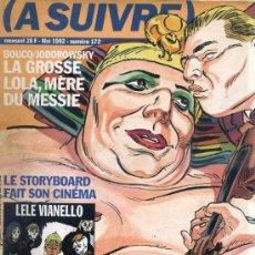 Cómics: A SUIVRE Nº 172 (1990) COMIC FRANCÉS CASTERMAN -INCLUYE COMIC SABLES ARABES ANUNCIADO EN PORTADA. Lote 33047113