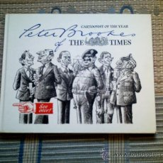Cómics: PETER BROOKES OF THE TIMES. CARTOONIST OF THE YEAR (EN INGLES)(CARTONE, SOBRECUBIERTA, 118 PGS). Lote 33395924