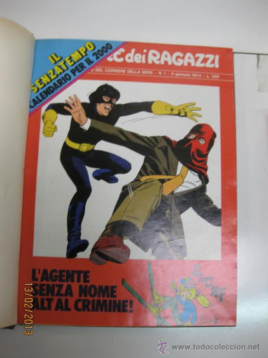 CORRIERI DEI RAGAZZI.Nº1,2,3 Y 4.1974.ENCUADERNADOS.(LUCKY LUKE,NICK,CARTER,AQUILA ETC (Tebeos y Comics - Comics Lengua Extranjera - Comics Europeos)
