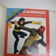 Cómics: CORRIERI DEI RAGAZZI.Nº1,2,3 Y 4.1974.ENCUADERNADOS.(LUCKY LUKE,NICK,CARTER,AQUILA ETC. Lote 35791426