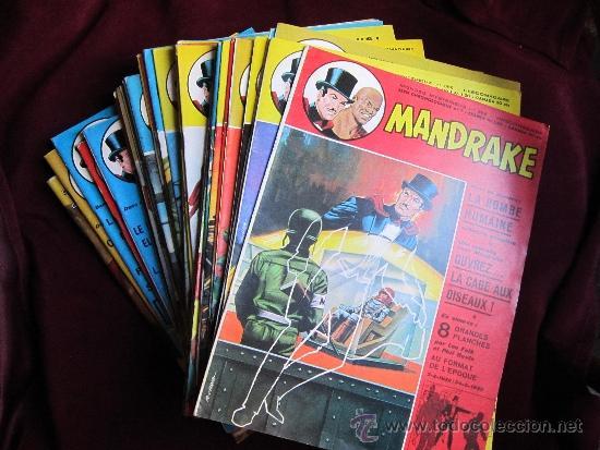 LOTE 45 CÓMICS MANDRAKE EN FRANCES. SERIE CHRONOLOGIQUE. MONDES MYSTERIEUX. TEBENI EXCELENTE ESTADO (Tebeos y Comics - Comics Lengua Extranjera - Comics Europeos)