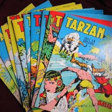 Cómics: LOTE 11 CÓMICS TARZAN. EDITIONS MONDIALES DEL DUCA PARÍS. TOUT EN COULEURS. COMO NUEVOS. Lote 36210484