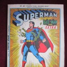 Cómics: SUPERMAN, BATMAN ET ROBIN. EXTRA Nº 50 BIS. SAGÉDITION PARIS. 1973 FORMATO PERIODICO. POSTER GIGANTE. Lote 36213829