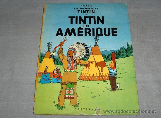 TINTIN EN AMÉRICA EN FRANCÉS. CASTERMAN 1947? (Tebeos y Comics - Comics Lengua Extranjera - Comics Europeos)