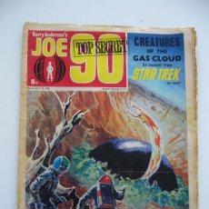 Cómics: COMIC GERRY ANDERSON'S. JOE 90 TOP SECRET.CREATURES OF THE GAS CLOUD AN INCIDENT FROM STAR TREK.1969. Lote 36949246