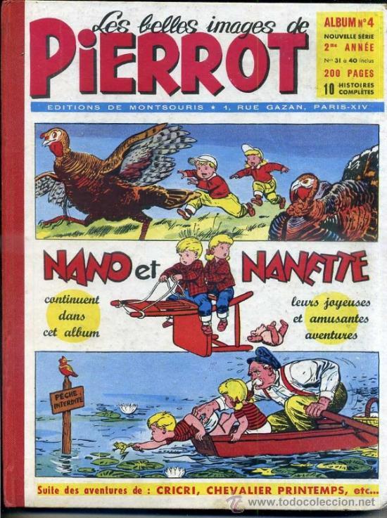 PIERROT ALBUM Nº 4 NOUVELLE SERIE, NÚMS. 31 A 40 (1953). EN FRANCÉS (Tebeos y Comics - Comics Lengua Extranjera - Comics Europeos)