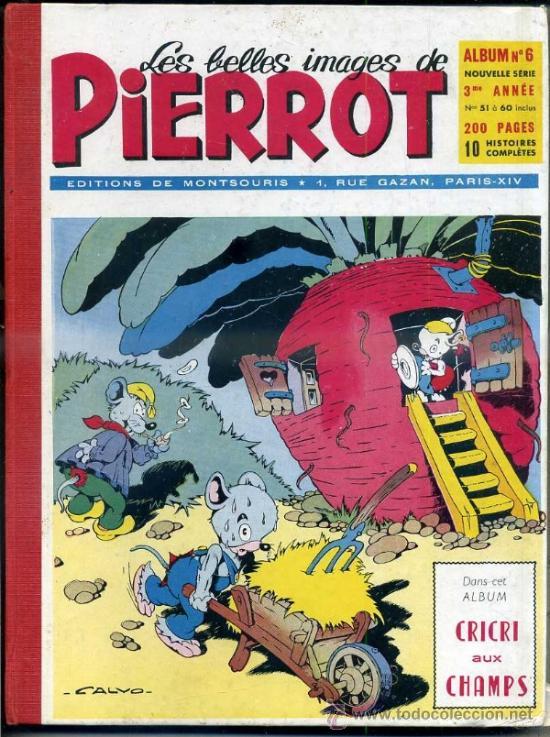 PIERROT ALBUM Nº 6 NOUVELLE SERIE, NÚMS. 51 A 60 (1954). EN FRANCÉS (Tebeos y Comics - Comics Lengua Extranjera - Comics Europeos)