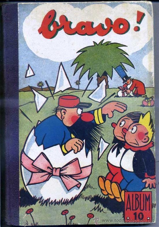 BRAVO! ALBUM RELIURE NÚM 10, NÚMS. 27 A 43 (1947). EN FRANCÉS (Tebeos y Comics - Comics Lengua Extranjera - Comics Europeos)