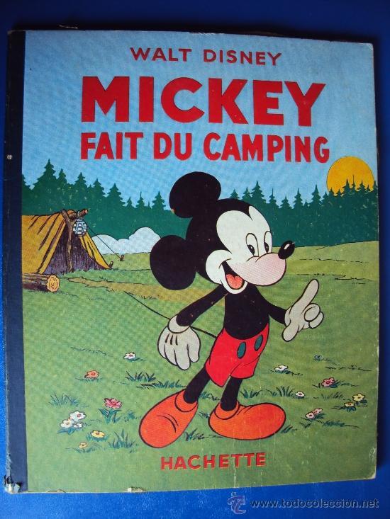 (COM-189)CUENTO DE MICKEY,FAIT DU CAMPING,HACHETTE,EN FRANCES,4º.TRIMESTRE 1951 (Tebeos y Comics - Comics Lengua Extranjera - Comics Europeos)
