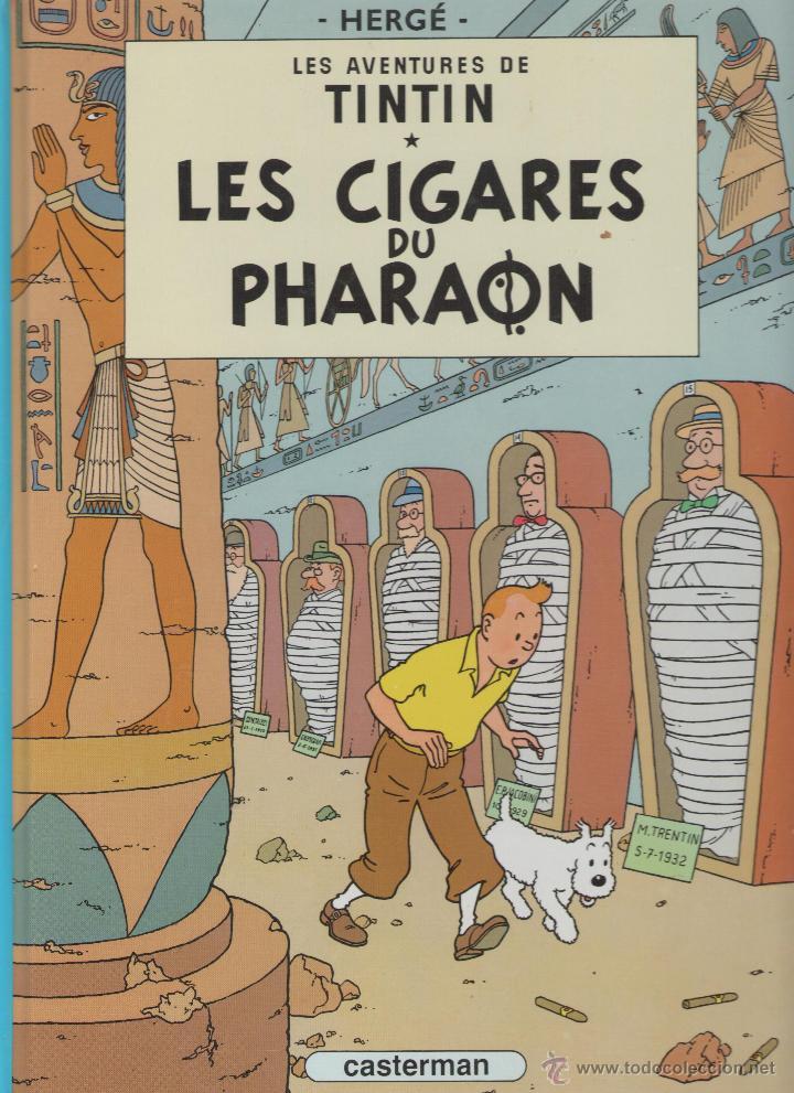 LES AVENTURES DE TINTIN - HERGÉ - LES CIGARES DU PHARAON - CASTERMAN - 1983 - FRANCES (Tebeos y Comics - Comics Lengua Extranjera - Comics Europeos)